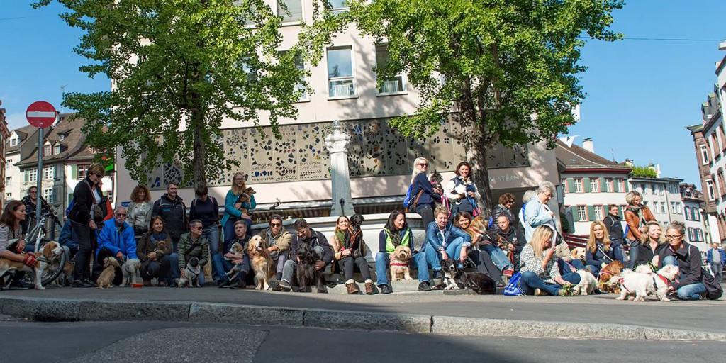 Flashmob des Tierschutz beider Basel