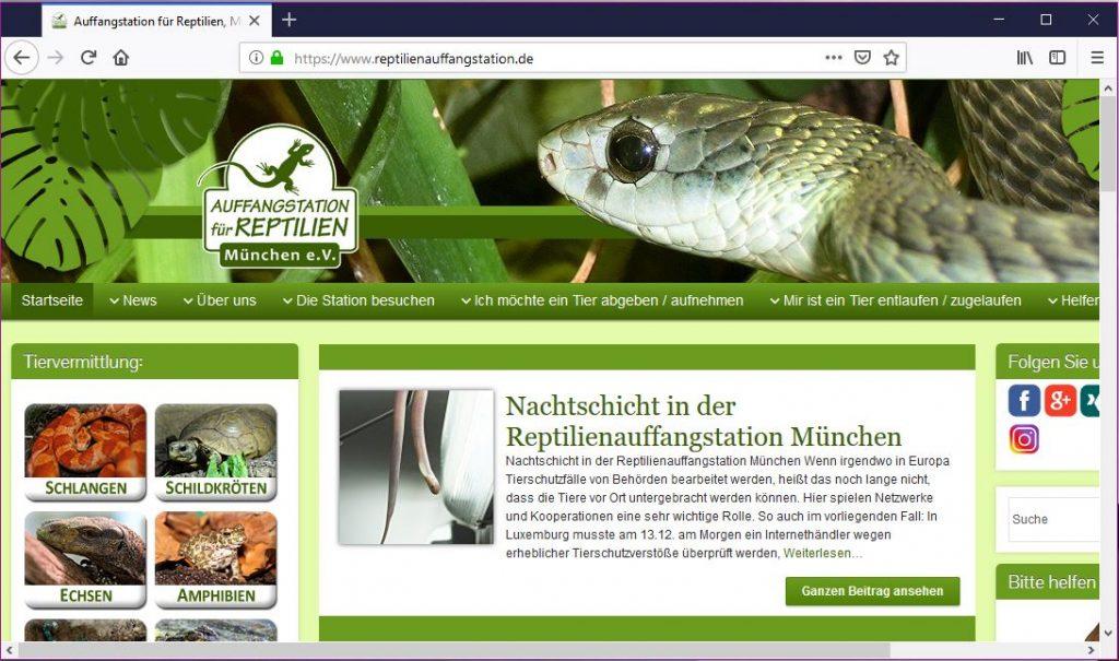 Reptilienauffangstation München