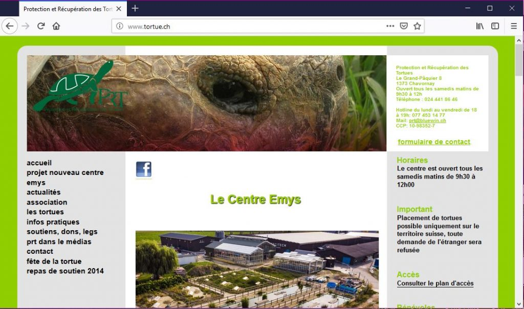 Protection et Recuperation des Tortues, Chavornay